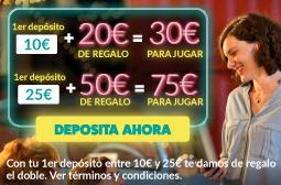 Deposita 10€, juega con 30€