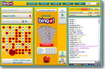 Cartón, juego, chat y bote acumulado de bingo 90