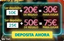 Bono de bienvenida para jugar al bingo online: hasta 50€ bonus con tu primer depósito.