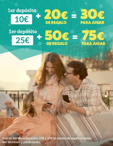 oferta de bienvenida: 50€ bonus con tu primer depósito