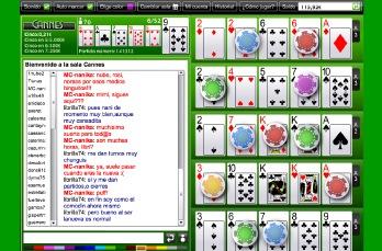Cartas, juego, chat y bote de Cinco